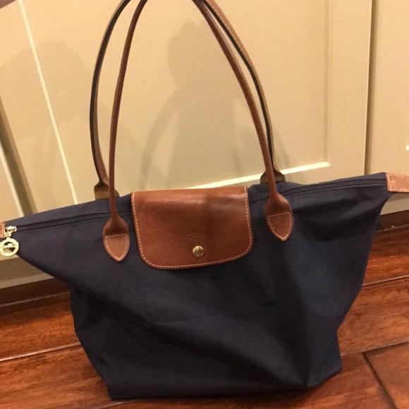 Longchamp Handbags - Longchamp Large Le Pliage Tote - Navy Blue 18d6fd05fe
